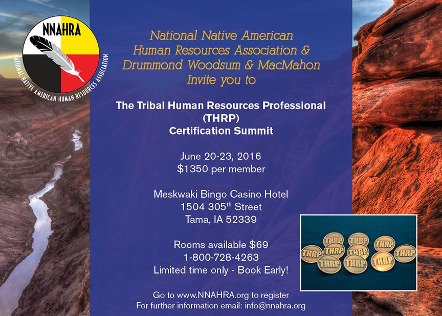 Tribal Human Resources Professional Thrp Certification Summit Nnahra